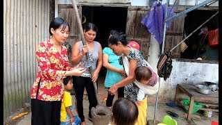 Giã Gạo cùng lá Bột Ngọt để nấu canh Bùi - Hương vị đồng quê - Bến Tre - Miền Tây