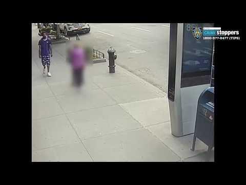 Homem empurra idosa de 92 anos enquanto caminhava na rua