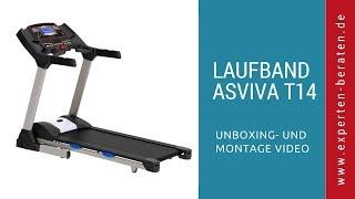 """►  Unboxing und Montage mit Fazit des klappbaren elektronischen Laufbands """"AsVIVA T14"""" auf Deutsch ☑"""