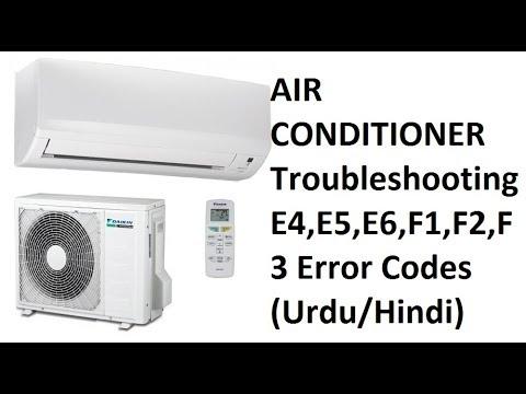 error codes E4, E5, E6, F1, F2, F3 in Godrej air