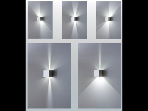 Applique cubo led con fascio di luce regolabile www.mazzolaluce.com