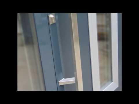 exclusive design -   Aluminium Haustür   Anthrazit RAL 7016 + Seitenteile