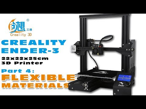 Printing Flexible fillament with the Creality Ender-3 :)