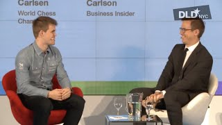 Magnus Carlsen talks with Business Insider's Nicholas Carlson at the DLD '15 in NYC