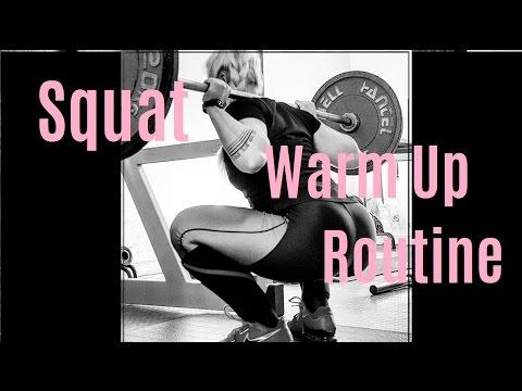 My Squat Warm Up Routine   Aufwärmen für die Kniebeuge   Powerlifting