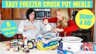 Chicken Crock Pot Freezer Meals: 5 Ingredients Or Less! | DUMP & GO Recipes