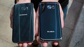 Bluboo Edge and Samsung Galaxy S7 Edge Back Covers Comparison Video