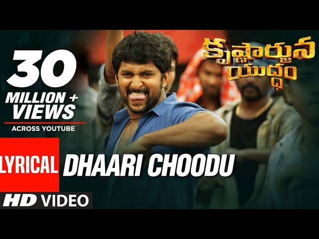 Dhaari Choodu Full Audio Song | Krishnarjuna Yuddham Movie Songs | Nani
