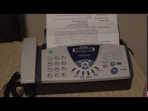 Brother FAX575 Sending a Fax Demonstration