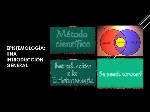 EPISTEMOLOGÍA.: UNA INTRODUCCIÓN GENERAL