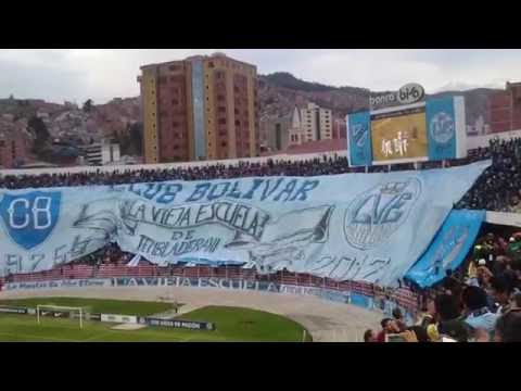 """Recibimiento Club Bolívar v.s. Atlético Nacional (Partido ida) Copa Sudamericana 2016"" Barra: La Vieja Escuela • Club: Bolívar"
