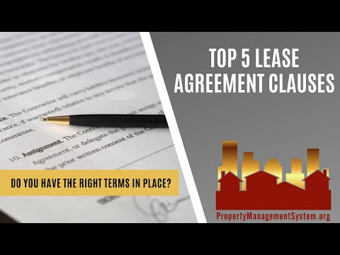 Top 5 Lease Agreement Clauses