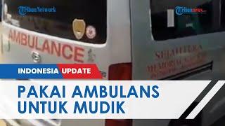 Sejumlah Warga Ketahuan Pakai Ambulans untuk Berjalan-jalan, Dihentikan Petugas di Tol Cikarang
