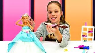 Барби собирается на бал. Одевалки и Игры для девочек