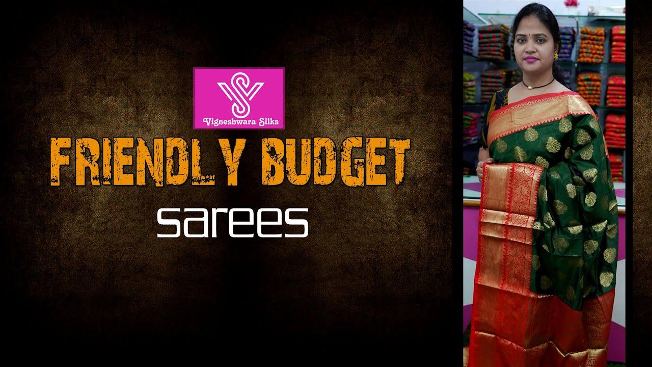 "<p style=""color: red"">Video : </p>Friendly budget sarees  || Vigneshwara Silks ||//vigneshwarasilks.com 2021-10-14"