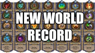 [New World Record] 28 Different Hero Powers in 1 Turn - Hearthstone