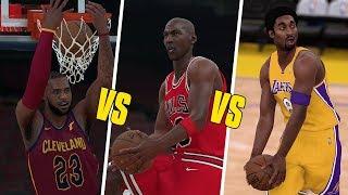 Michael Jordan vs LeBron James vs Kobe Bryant Dunk Contest!   NBA 2K18  