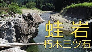 【びわ湖源流の郷・高島市より】朽木三ツ石の蛙岩