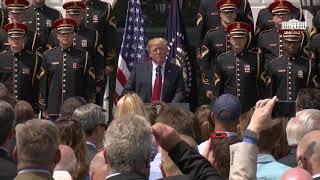 """Trump Sings, Speaks At """"Celebration Of America"""""""