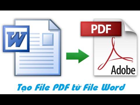 Hướng dẫn tạo file PDF từ file Word
