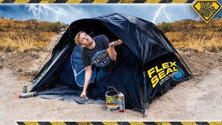Will A Flex Seal Tent Keep You Dry?