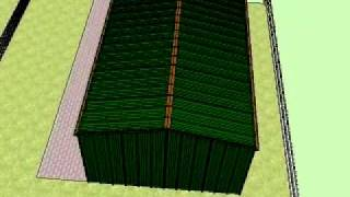Steel prefabricated domestic garages