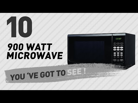 , Westinghouse, WM009, Countertop Microwave Oven, 900 Watt, 0.9 Cubic Feet, Stainless Steel Front, Black Cabinet, Small