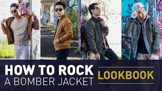 Bomber Jacket Outfit Ideas | Mens Flight Jacket Style Lookbook