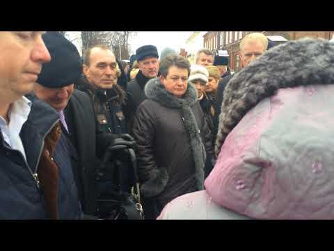 губернатор Орлова и недовольные жители Гороховца (видео)