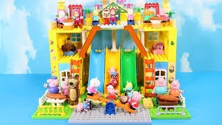 Lego Duplo House Construction Sets - Peppa Pig House With Water Slide Creations Toys For Kids #2