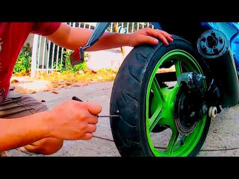 Como reparar neumáticos de motos en 3 min. con tacos o tapones