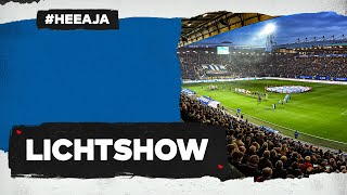 ?? GEWELDIGE LICHTSHOW ? Abe Lenstra Stadion tijdens sc Heerenveen - Ajax