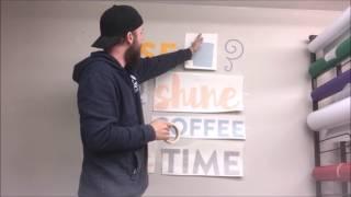 How to apply vinyl wall art
