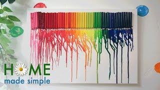Melted Crayon Art | Home Made Simple | Oprah Winfrey Network