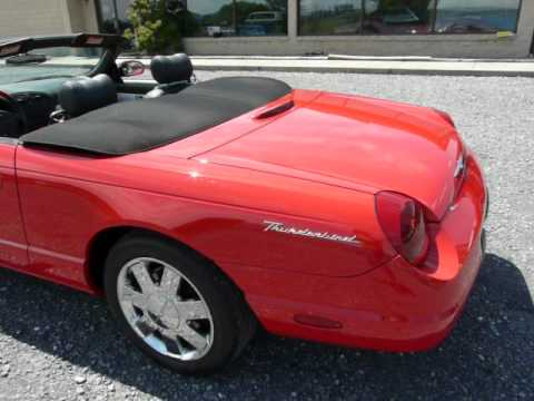 2002 Red Ford Thunderbird Video