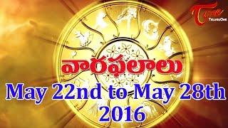 Vaara Phalalu | May 22nd to May 28th 2016 | Weekly Predictions