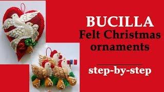 Bucilla Felt Christmas Ornaments Step-by-step / DIY / I Lost The Chart!