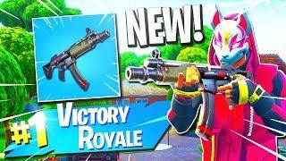 "*NEW* RARE MP5 GAMEPLAY on FORTNITE! - NEW RARE ""SUBMACHINE GUN Gameplay"" (Fortnite v5.0 Update)"
