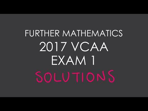 2017 VCAA Further Mathematics Exam 1 - YouTube