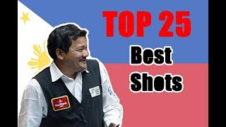 Efren Reyes 2018!!! Top 25 Amazing Shots Forever