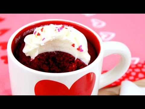 Video How to Make Red Velvet Mug Cake!