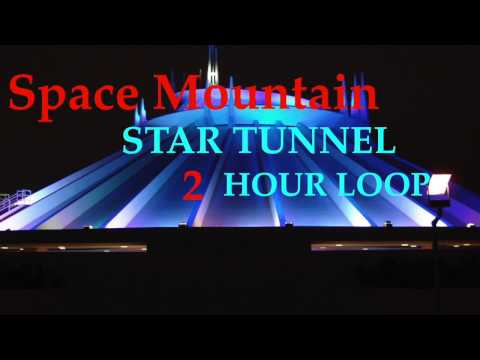 Space Mountain Star Tunnel Area Music  ( 2 Hour Loop ) HD