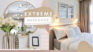 EXTREME CONDO MAKEOVER: How To Design A One Bedroom Condo Unit | POSH PARADISE (Manila, Philippines)