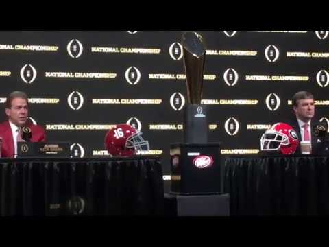 1/7:  KIRBY SMART and NICK SABAN CFP Press Conference Part 1