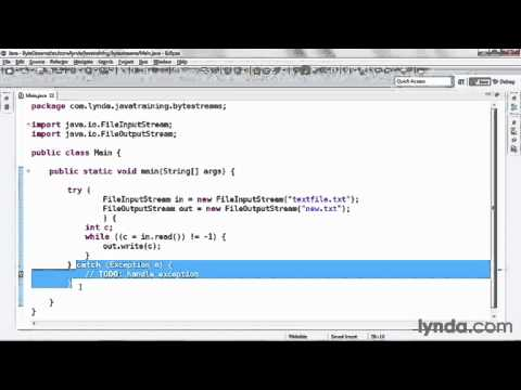 java tutorial Reading and Writing Byte Streams