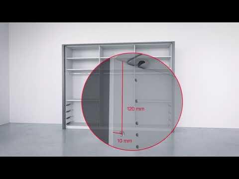 Montage  - Falttürenschrank mit Schubkästen