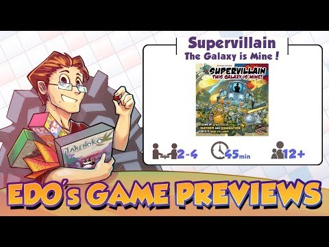 Edo's Supervillain: The Galaxy is Mine! Review (KS Preview)