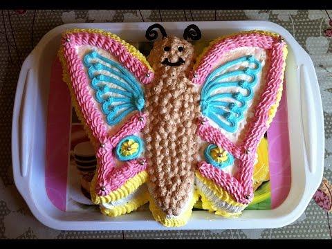 Торт Бабочка / Butterfly Cake / Пошаговый Рецепт Тортика (Очень Вкусный и Нежный)