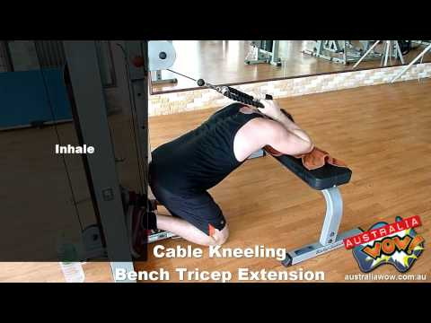 Cable Kneeling Bench Tricep Extension