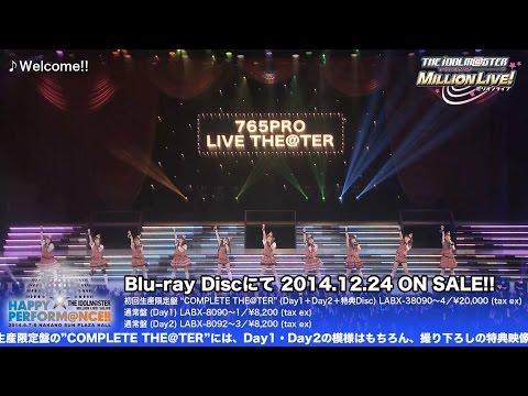 【声優動画】ミリマスの1stライブHAPPY PERFORM@NCE!!のダイジェスト映像を公開